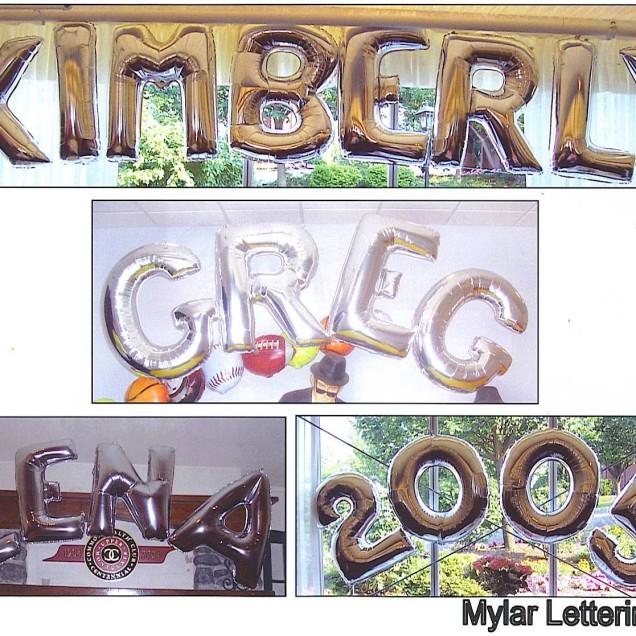 Mylar lettering